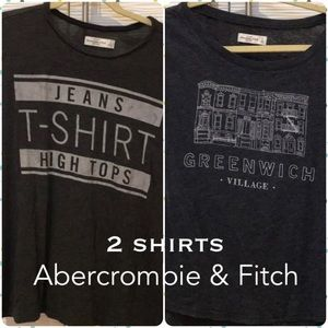 (2) ABERCROMBIE & FITCH - T-shirts